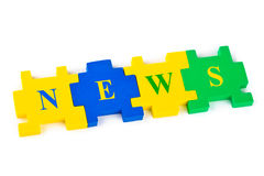 Puzzle News Royalty Free Stock Images
