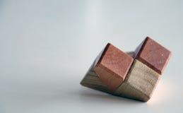 Puzzle non résolu, partie en bois Photos libres de droits