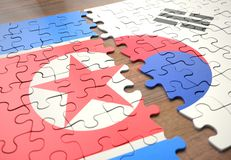 Puzzle North And South Korea royalty free stock images
