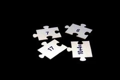 Puzzle  Numbers Stock Images