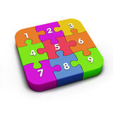 puzzle numbers Stock Photo