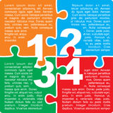 Puzzle with numbers and place for your text Royalty Free Stock Photos
