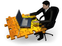 Puzzle office work Stock Images