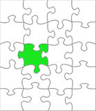Puzzle one different Stock Photography