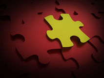 Puzzle one green Stock Photos