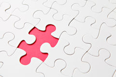 Puzzle with one missing piece Royalty Free Stock Images