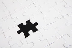 Puzzle one piece missing Royalty Free Stock Photos