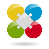 Puzzle with 4 options Royalty Free Stock Photography