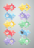 Puzzle 10 options infographic template. can be used for workflow, layout, diagram Royalty Free Stock Photo