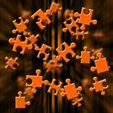 Puzzle orange Photos stock