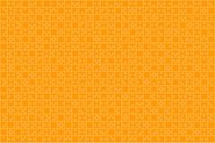Puzzle orange de morceaux de puzzles - fond de vecteur Image stock