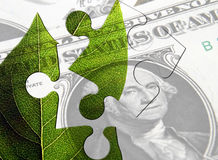 Puzzle over US economy Stock Photo