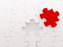 Puzzle over white background Royalty Free Stock Photo