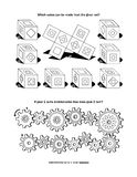 Puzzle page for adults and children Royalty Free Stock Photos