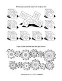 Puzzle page for adults and children Stock Images