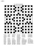 Puzzle page with criss-cross or fiil in word game. Puzzle page with 19x19 criss-cross or fill in, else kriss-kross English language word game. Black and white Stock Images