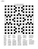 Puzzle page with criss-cross or fiil in word game. Puzzle page with 19x19 criss-cross or fill in, else kriss-kross English language word game. Black and white Stock Photos
