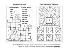 Puzzle page with two puzzles Stock Illustration