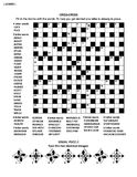 Puzzle page with word game and picture riddle. Puzzle page with criss-cross word game English language and visual puzzle. Black and white, A4 or letter sized Stock Image