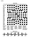 Puzzle page with word game and picture riddle. Puzzle page with criss-cross word game English language and visual puzzle. Black and white, A4 or letter sized Royalty Free Stock Photos