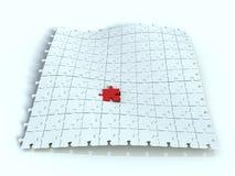 Puzzle paper Stock Photo