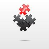 Puzzle parts Stock Images