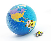 Puzzle parts forming Earth Stock Photography
