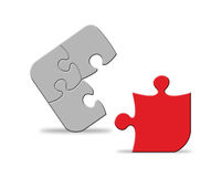 Puzzle. Parts of a puzzle isolated Stock Photos