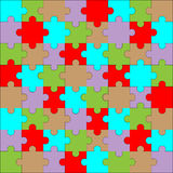 Puzzle pattern color Royalty Free Stock Images