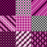 Puzzle Pattern in Magenta Royalty Free Stock Image