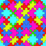 Puzzle pattern Stock Images