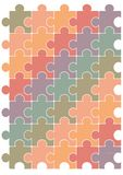 Puzzle pattern vector design template. Royalty Free Stock Image