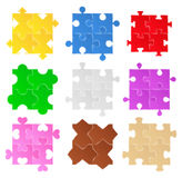 Puzzle patterns Royalty Free Stock Images