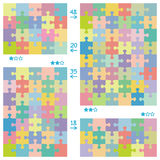 Puzzle patterns Stock Photography