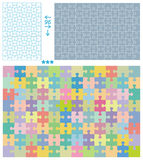 Puzzle patterns stock illustration