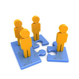 Puzzle_people Royalty Free Stock Photography
