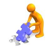 Puzzle Person 3D Stock Photos