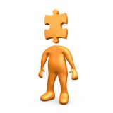 Puzzle Person Royalty Free Stock Photos