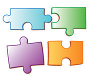 Puzzle pices Stock Images