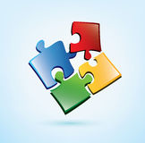Puzzle picies icon Royalty Free Stock Photography