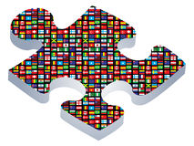 Puzzle piece royalty free illustration