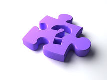 Puzzle piece. With question mark Royalty Free Stock Image