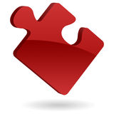 Puzzle Piece. An illustration of a red puzzle piece symbol Stock Images