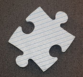 Puzzle piece. One puzzle piece for problem solving concept Royalty Free Stock Photo