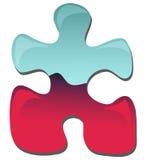 Puzzle piece. Illustration: Colorful puzzle isolated on white background royalty free illustration