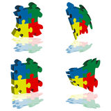 Puzzle piece. Nice and colourful puzzle pieces Stock Photos