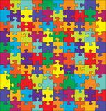 Puzzle Piece. Puzzle with split complementary colors - Available in VECTOR also Stock Images
