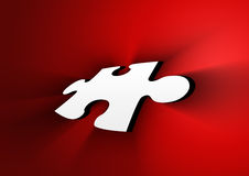 Puzzle piece. With ray in gradient background Stock Images