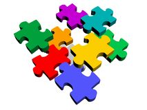Puzzle piece abstract Royalty Free Stock Images