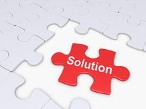 Puzzle piece as solution Stock Photo